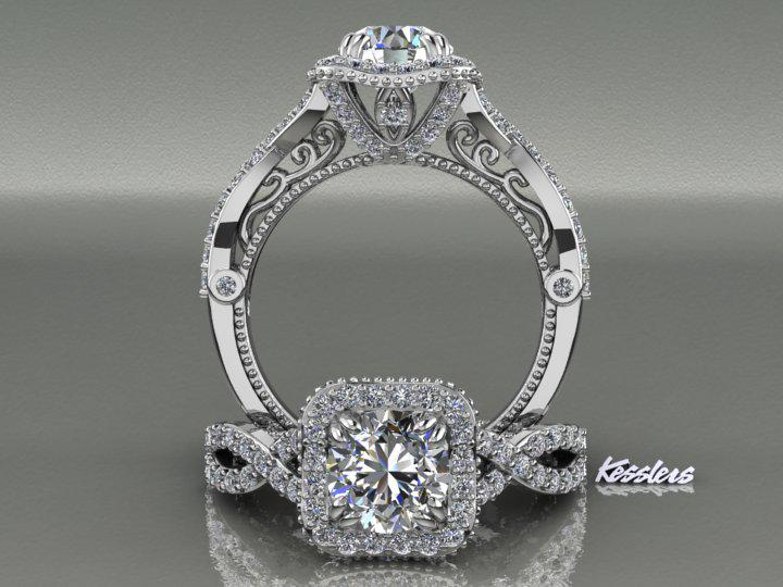 Kesslers diamonds custom jewelry unique jewelry design kesslers diamonds custom engagement ring junglespirit Images