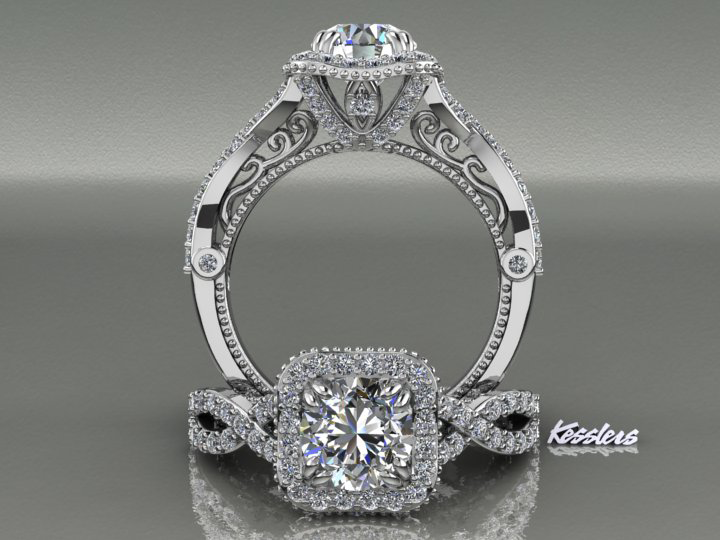 Kesslers diamonds custom jewelry unique jewelry design kesslers diamonds custom engagement ring junglespirit Gallery